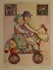Il viaggio - 20x30 cm - 50 copie - acquaforte acquerellata - franco grobberio