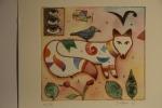 Volpe - 20x22 cm - 30 copie - acquaforte acquerellata - franco grobberio