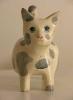Gatto - scultura policroma - Franco Grobberio