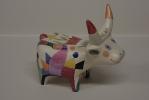 Mucca - scultura policroma - Franco Grobberio