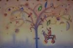Grande storia d'amore sotto un albero - Acquerello - Franco Grobberio