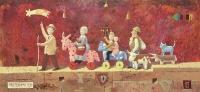 Parten , Parten - olio su tavola - Franco Grobberio