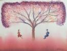 Opere disponibili Pittura :: Dondolanti-Acquerello 27x36cm-300€