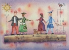 Opere disponibili Pittura :: Il convegno- Acquerello 27x36cm-350€