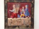 La famiglia  olio e acrilico su tavola  50x50 cm - 800€
